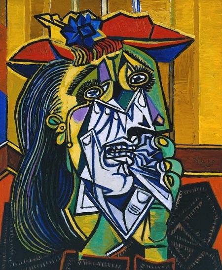 """Bức """"Người phụ nữ lau nước mắt"""" khắc họa Dora Maar."""