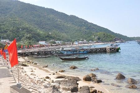 Một góc đảo Cù Lao Chàm-Khu dự trữ sinh quyển Thế giới.