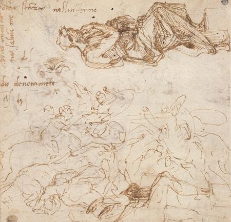 Một số bức phác họa lưu lại bút tích của Michelangelo