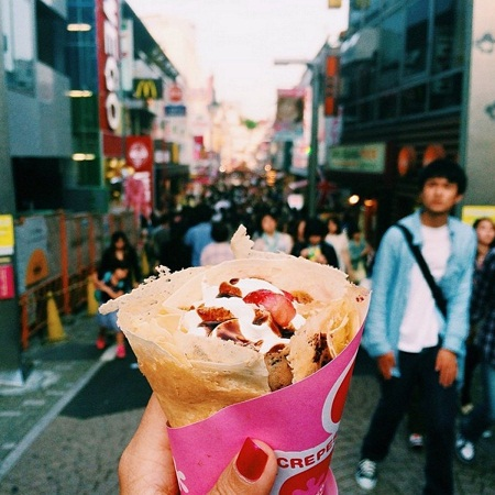 Bánh kếp ở Tokyo, Nhật Bản.