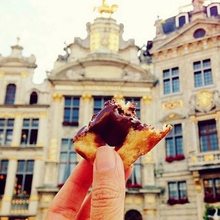 Bánh quế ở Brussels, Bỉ.