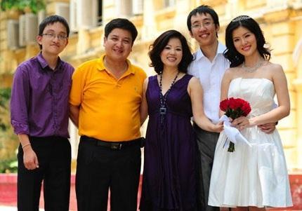 Gia đình hạnh phúc của Chí Trung. Ảnh:Nhân vật cung cấp.