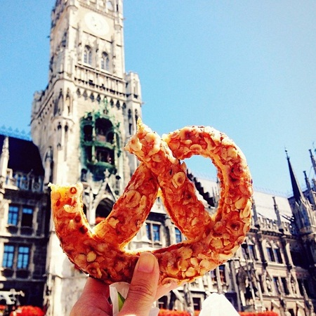 Bánh quy xoắn ở Munich, Đức.