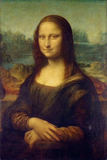 """Bức """"Nàng Mona Lisa"""" treo ở viện bảo tàng Louvre (Paris, Pháp)."""