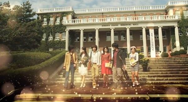 Love Rain được xem là bộ phim khai thác trọn vẹn nhất vẻ đẹp của nhiều địa điểm tại Đại học Keimyung.