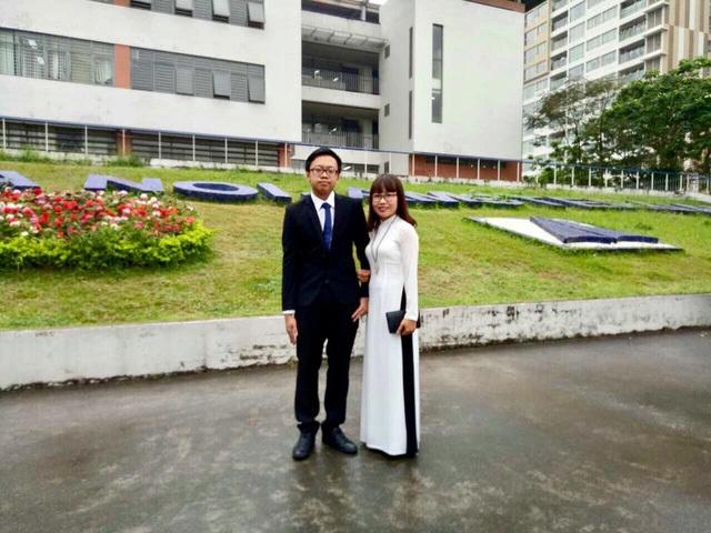 Cao Tuấn Kiệt (trái) sẽ là tân sinh viên Đại học Cornell niên khóa 2018 – 2022.