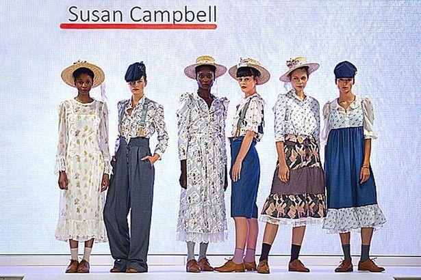 Một số thiết kế của bà Susan tại Graduate Fashion Week. (Ảnh: University of Northampton)