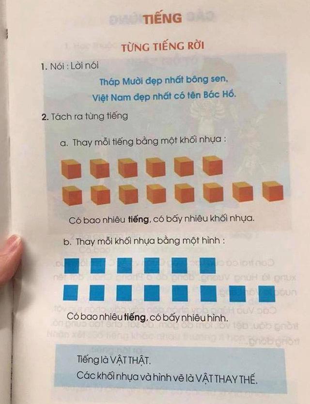 Cách sử dụng hình khối thay cho chữ viết là để học sinh quên đi nghĩa của từ, vì đó không phải là trọng tâm của những tuần đầu đi học