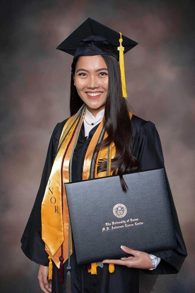Tháng 8 vừa qua, Vũ Nam Phương – Hoa khôi du học sinh Việt toàn thế giới năm 2015 tốt nghiệp cử nhân loại xuất sắc về Chẩn đoán hình ảnh y tế liên quan đến y học phóng xạ của Viện nghiên cứu và trị liệu ung thư hàng đầu thế giới - UT MD Anderson Cancer Center (Houston, Texas, Mỹ) và được giữ lại làm việc tại Viện.