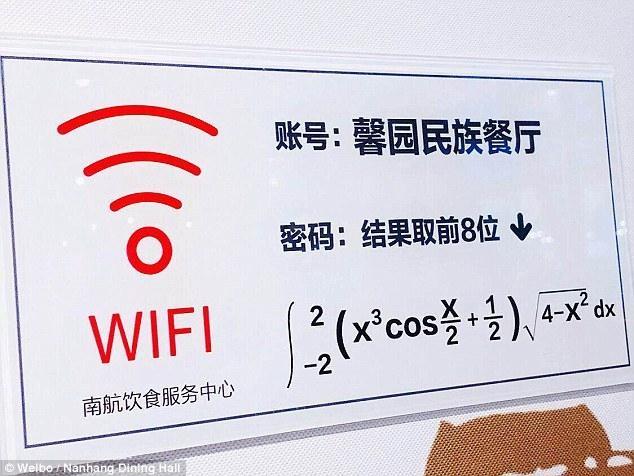 Câu hỏi toán học hóc búa sinh viên Đại học Nanjing phải giải được nếu muốn biết pass wifi.