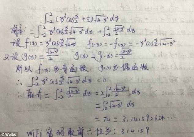 Nhiều người dùng mạng Trung Quốc hiếu kỳ đã chia sẻ lời giải chi tiết của mình cho bài toán.