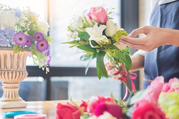 Sinh viên có thể tự tay tạo ra những bó hoa được sắp xếp theo phong cách của riêng mình (Ảnh: Freepix)