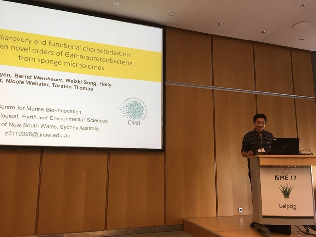Nguyễn Việt Hùng phát biểu tại Hội nghị hàng đầu thế giới về khoa học ngành vi sinh - ISME17.