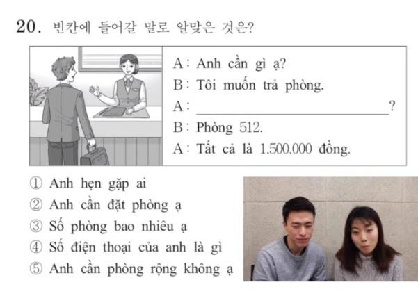 """Tuy chỉ là kiến thức ngữ pháp, từ vựng thông thường nhưng đối với học sinh Hàn Quốc, đề thi môn Ngoại ngữ Tiếng Việt không hề """"dễ nhằn""""."""