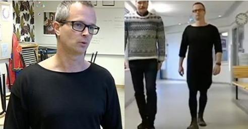 Thụy Điển: Thầy hiệu trưởng mặc váy tới trường nhằm xóa bỏ định kiến - 2