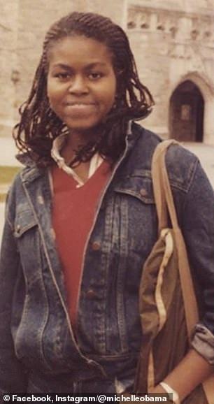 Bức ảnh chụp bà Michelle Obama khi còn là sinh viên tại Đại học Princeton.