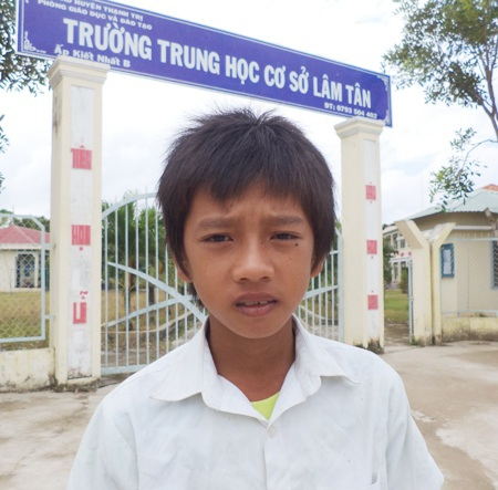 Cháu Đoàn trở lại trường sau 20 ngày bỏ đi.