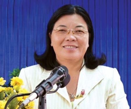 Bà Chung Ngọc Nhãn - nguyên Giám đốc Sở LĐ-TB&XH Cà Mau.