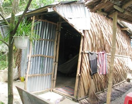 Căn nhà của chị Huỳnh Lệ Thủy chưa tới 6m2.