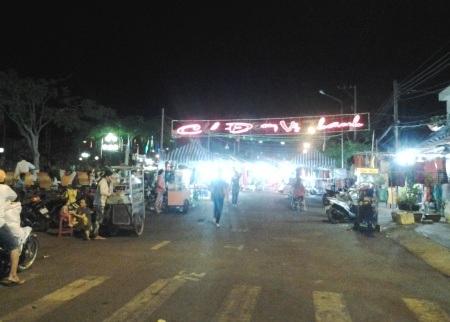 Chợ đêm Vị Thanh, tỉnh Hậu Giang.