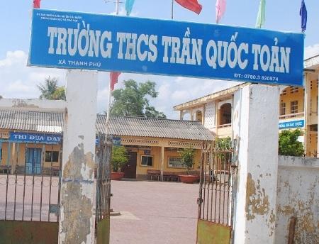 Trường THCS Trần Quốc Toản, huyện Cái Nước, Cà Mau.
