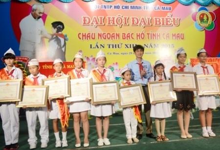 Đại hội đại biểu Cháu ngoan Bác Hồ tỉnh Cà Mau. (Ảnh: CTTĐT CM)