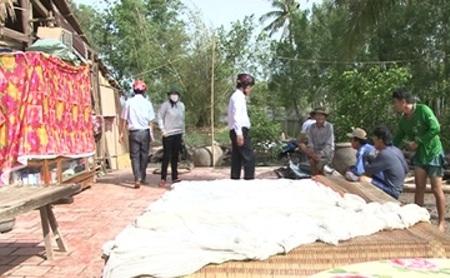 Một căn nhà bị sập ở huyện Ngọc Hiển, Cà Mau.