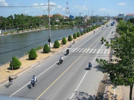 Trung tâm thị xã Giá Rai hiện nay.