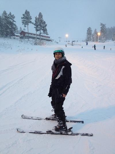 Tác giả tại khu trượt tuyết Jarvsobacken