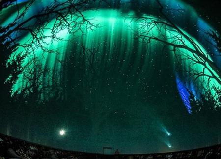 Quang cảnh trình chiếu trong đài thiên văn Planétarium