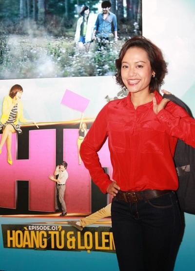 Hồng Ánh xuất hiện tại buổi ra mắt phim tối quađểủng hộ Ngô Quang Hải