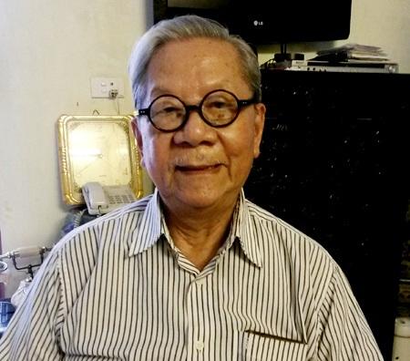 Nhạc sỹ Hoàng Vân hiện tại- 84 tuổi (ảnh: Hương Ngân)