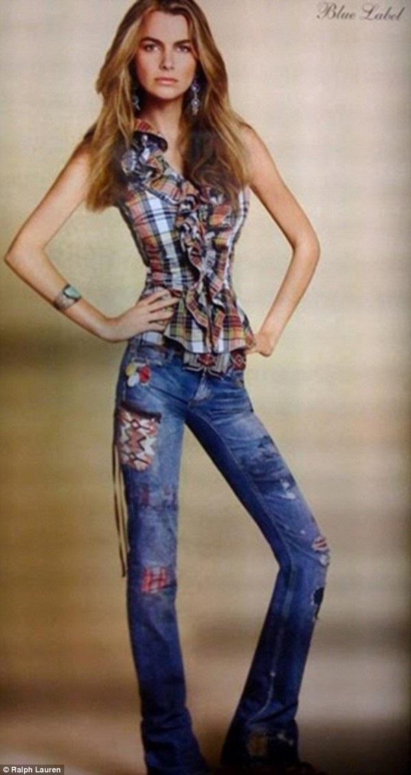 Cô gái nào cũng mong muốn được sở hữu một thân hình thon gọn, nhưng thon gọn đến quá mức như người mẫu này thì có lẽ phải suy nghĩ lại.