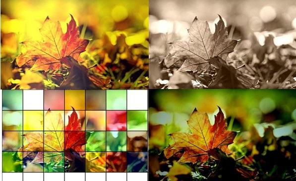 Hình ảnh với các hiệu ứng khác nhau do phần mềm tạo ra