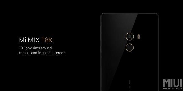 Viền camera và cảm biến vân tay phiên bản cao cấp của Mi MIX được mạ vàng 18k