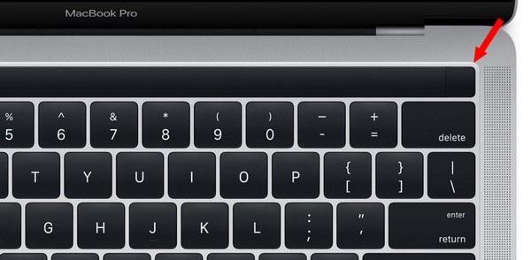 Vị trí tích hợp cảm biến vân tay Touch-ID trên MacBook Pro mới