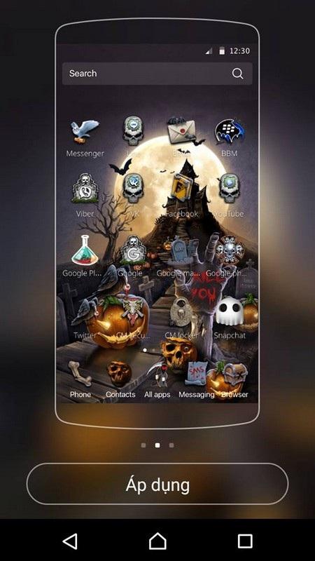 """""""Hóa trang"""" cho smartphone để đón Halloween với bộ giao diện cực độc đáo - 2"""