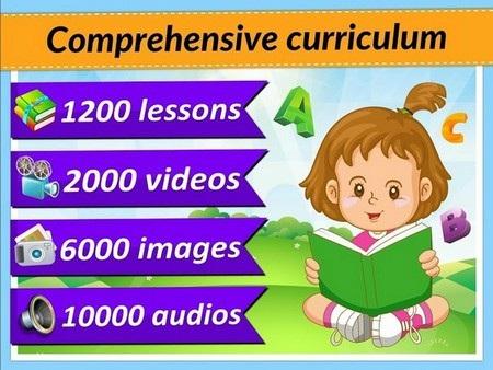 Ứng dụng cung cấp nhiều chế độ học trực quan, khuyến khích trí sáng tạo và ham học hỏi ở trẻ