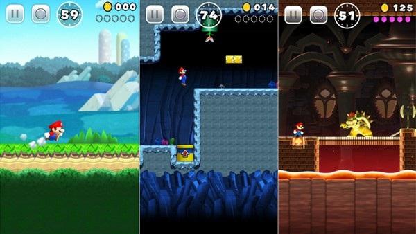 Super Mario Run có cách chơi tương tự như trò chơi nổi tiếng Super Mario Bros trước đây