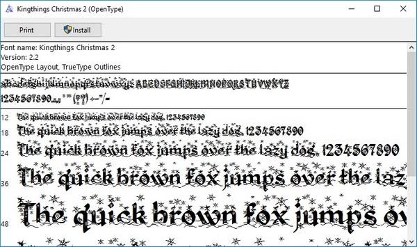 Bộ sưu tập font chữ theo phong cách Giáng sinh độc đáo - 2