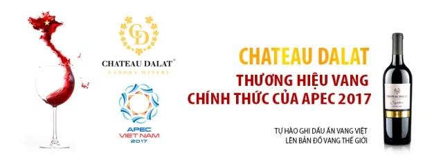 Chateau Dalat là thương hiệu vang chính thức của APEC 2017