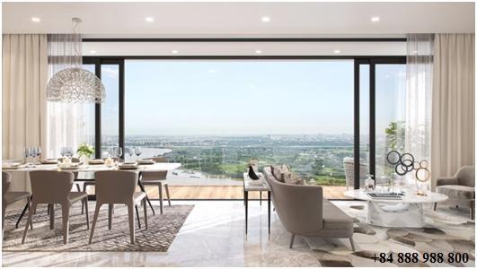 Hình phối cảnh. Thiết kế nội thất tinh tế, không gian sống rộng rãi, ngập tràn ánh sáng tự nhiên