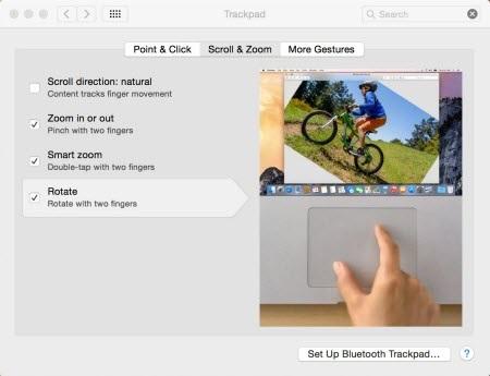 Tra cứu các định nghĩa trên một trackpad