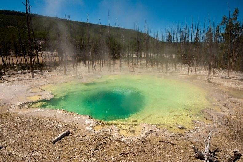 Top 10 suối nước nóng đẹp nhất trong vườn quốc gia Yelowstone