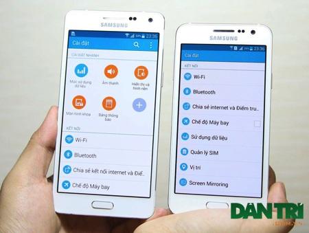 Galaxy A dùng màn hình Super AMOLED
