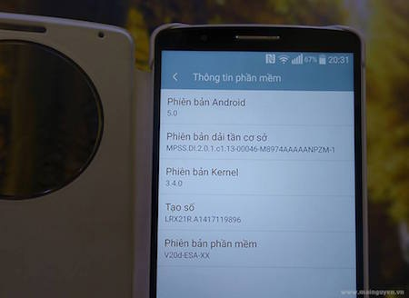 Android 5.0 trên LG G3.