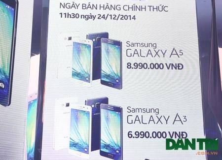 Giá bán Galaxy A được công bố trong đêm giới thiệu tại Việt Nam