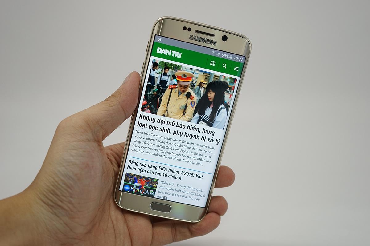 Galaxy S6 Edge màu vàng chính hãng tại Việt Nam