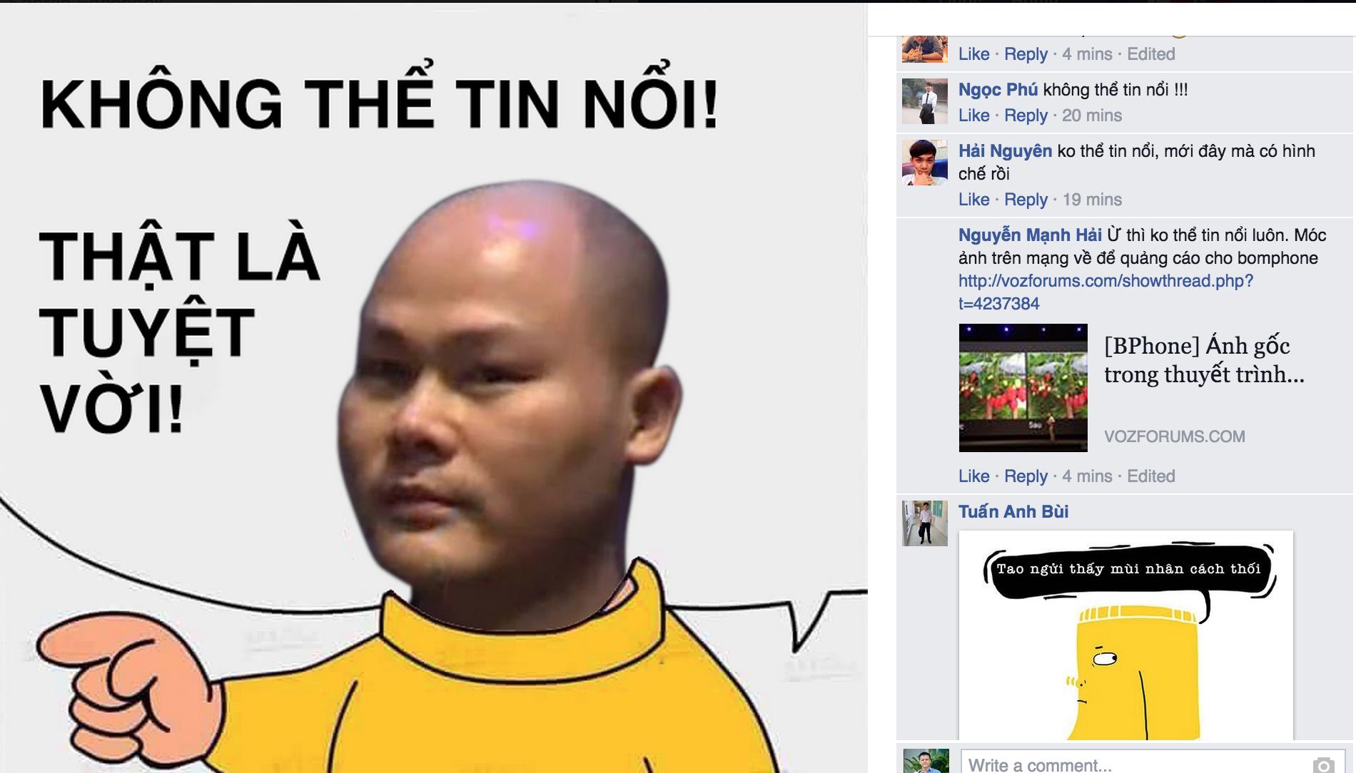 Người dùng Việt ám ảnh với cụm từ nhất thế giới của Bphone
