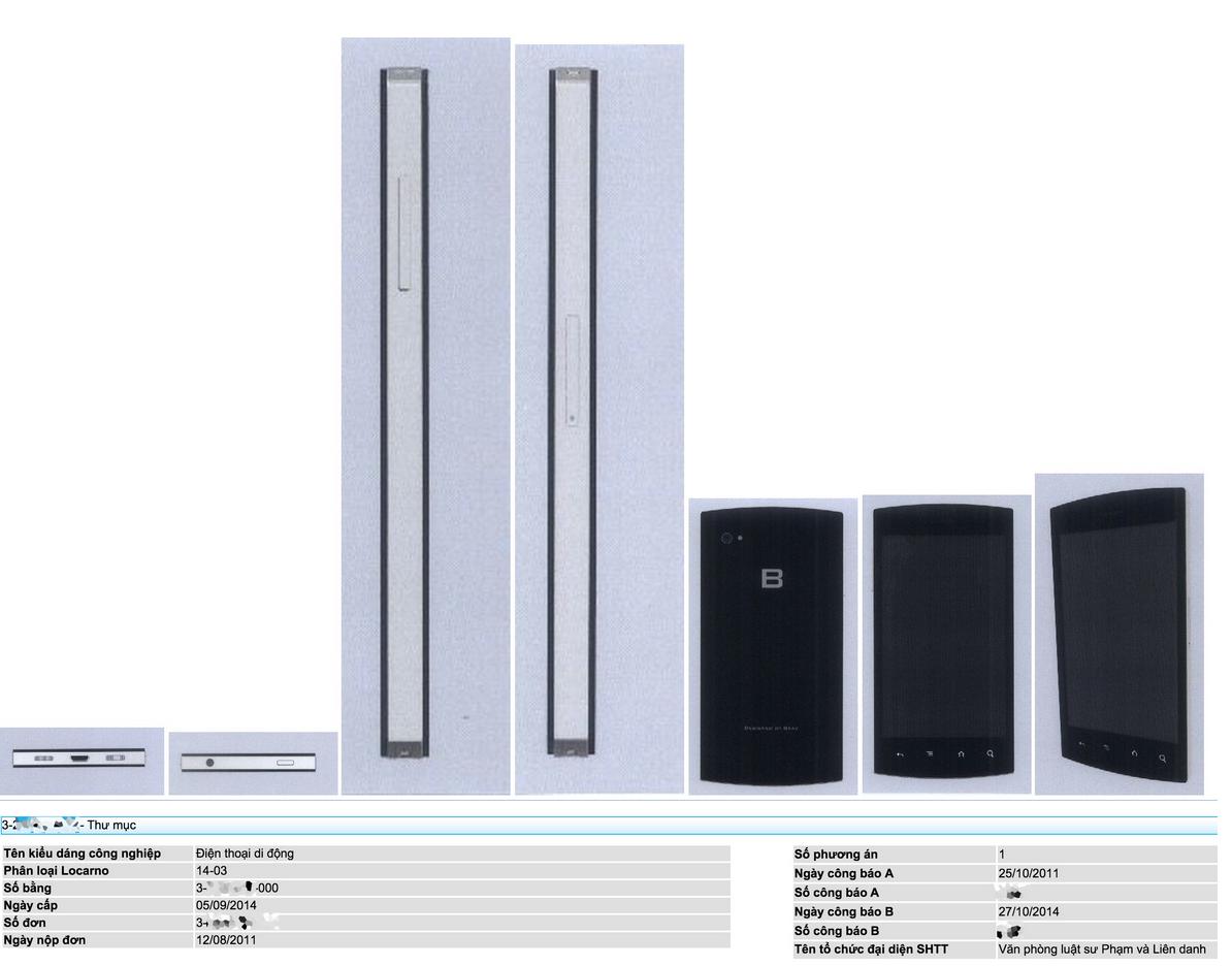 BPhone được cấp bằng sáng chế từ ngày 05/9/2014